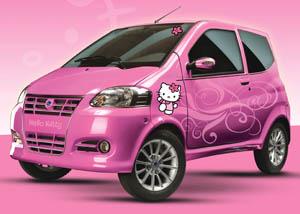 La minicar Casalini M10 in versione Hello Kitty